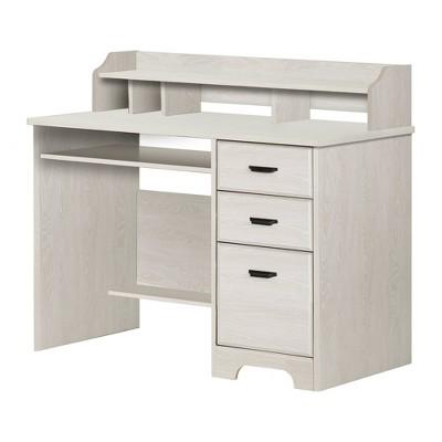 Versa Computer Desk with Hutch Winter Oak - South Shore