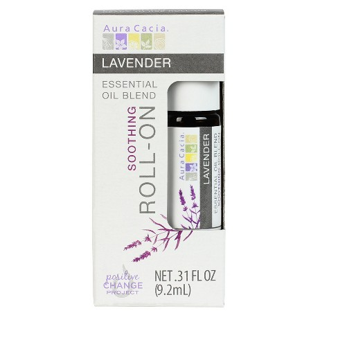 Aura Cacia Lavender Essential Oil Roll-On - .31 fl oz - image 1 of 4