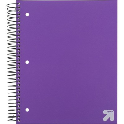 Spiral Notebook 5 Subject Wide Ruled 200 Sheets - up & up™