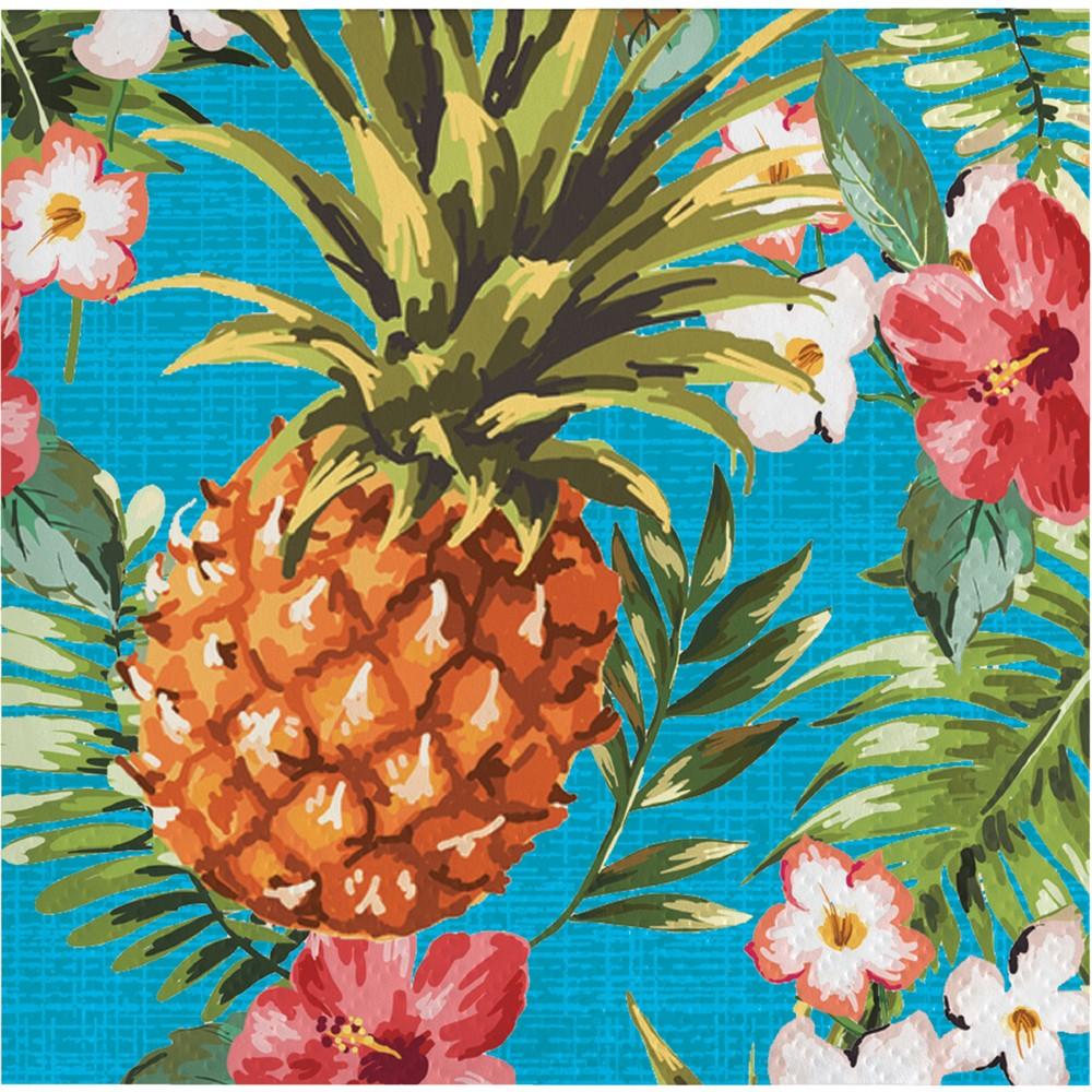 Image of 16ct Aloha Cocktail Beverage Napkins