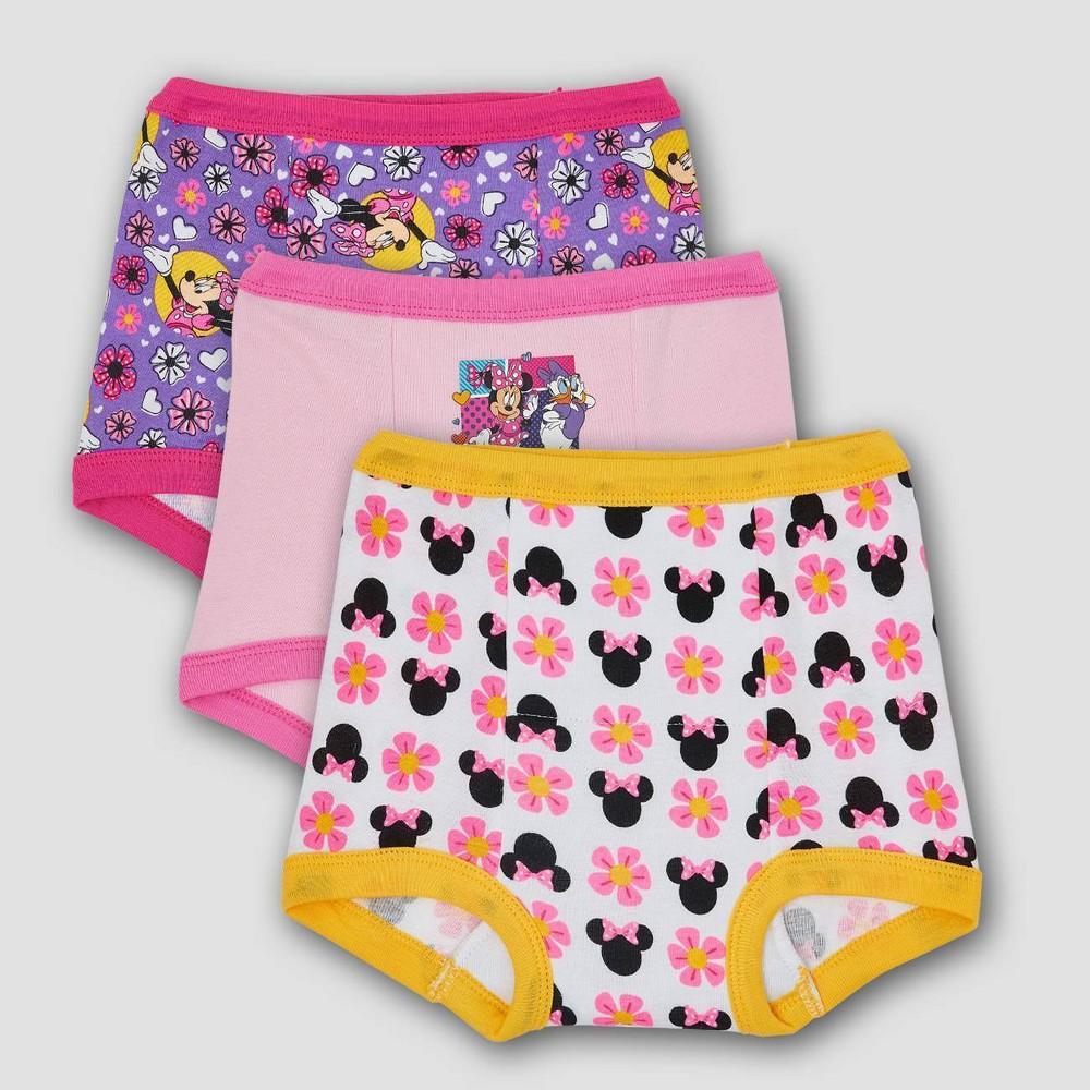 Toddler 3pk Minnie Mouse Training Pants Briefs 2t