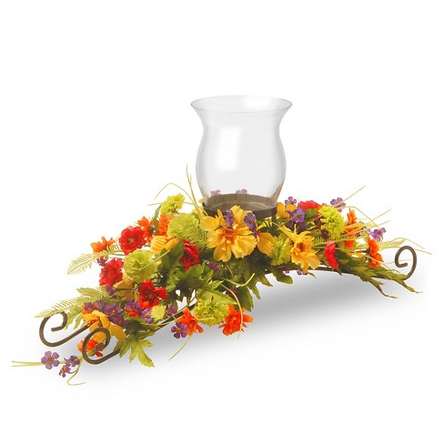 "Cosmos Mixed 1 Candle Holder with Glass Cup 30"" - National Tree Company® - image 1 of 1"