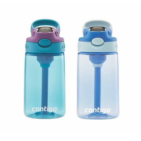 633f04a1b5 Contigo Autospout 14oz 2pk Kids Straw Water Bottle Blue : Target