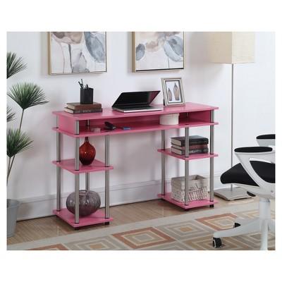 Wood Writing Desk With Storage - Johar Furniture : Target