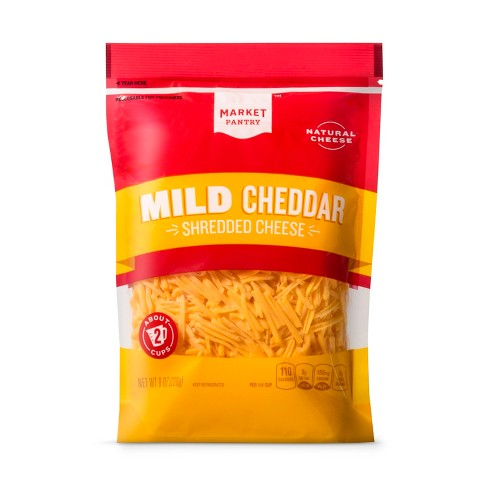 Shredded Mild Cheddar Cheese - 8oz - Market Pantry™ - image 1 of 1