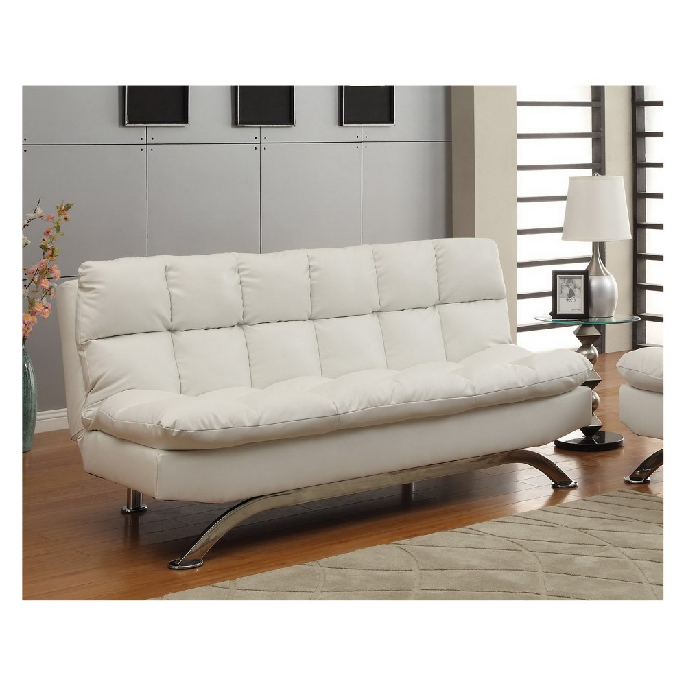 Super Mellie Futon Sofa Winter White Mibasics Gmtry Best Dining Table And Chair Ideas Images Gmtryco