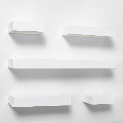 5pc Modern Wall Shelf Set White - Project 62™