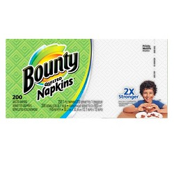 Bounty Quilted White Paper Napkins - 200ct