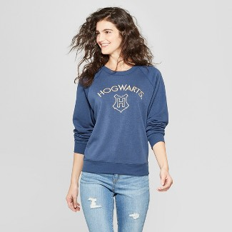 Women's Harry Potter Hogwarts Graphic Sweatshirt - (Juniors') Blue S