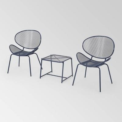 Elloree 3pc Iron Modern Chat Set - Christopher Knight Home