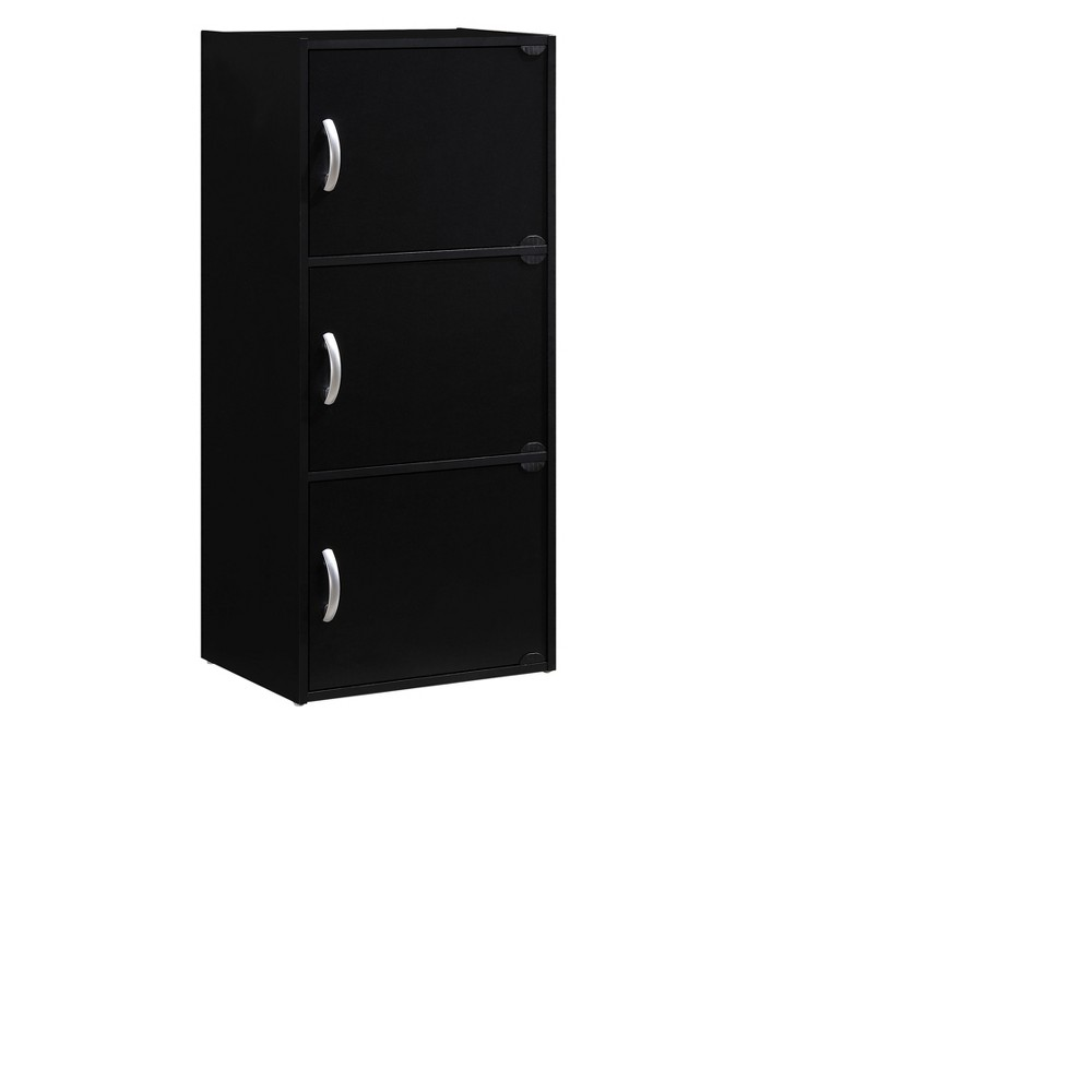 Storage Cabinet Black - Hodedah Import