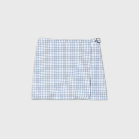 Women's Plaid Belted Wrap Mini Skirt - Wild Fable™ (Regular & Plus) - image 1 of 4