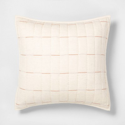 Euro Broken Stripe Pillow Sham Golden Copper - Hearth & Hand™ with Magnolia