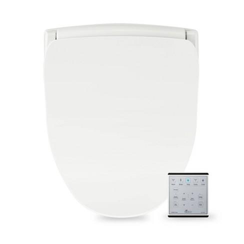 Slim Two Elongated Toilet Seat White Bio Bidet Target