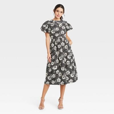 Women's Flutter Short Sleeve A-Line Dress - Who What Wear™