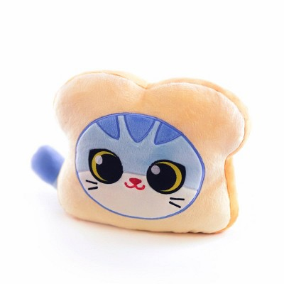 Hashtag Collectibles Cat Bread 10 Inch Plush Pillow