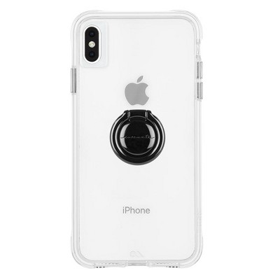 Case-Mate iPhone Xs Max Tough Clear + Black Ring Bundle