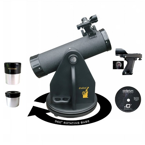 Galileo 500x80 TableTop Dobsonian Reflector Telescope - Black - image 1 of 2