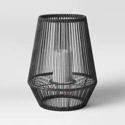 Plastic Woven Outdoor Lantern Gray - Project 62™