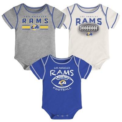 NFL Los Angeles Rams Baby Boys' Bodysuit Set 3pk - 0-3M