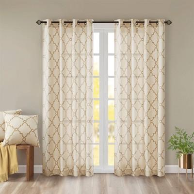 Sereno Fretwork Print Light Filtering Curtain Panel