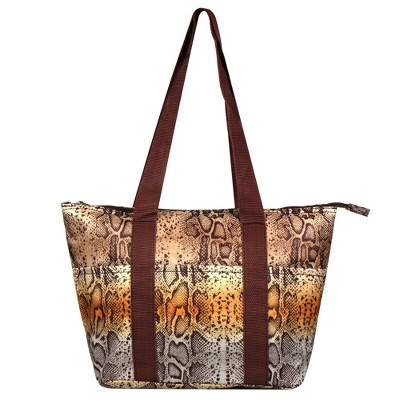Zodaca Women Large Reusable Insulated Lunch Tote Carry Organizer Zip Cooler Food Storage Bag