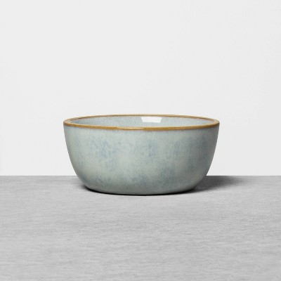 Stoneware Reactive Exposed Rim Mini Bowl Blue - Hearth & Hand™ with Magnolia