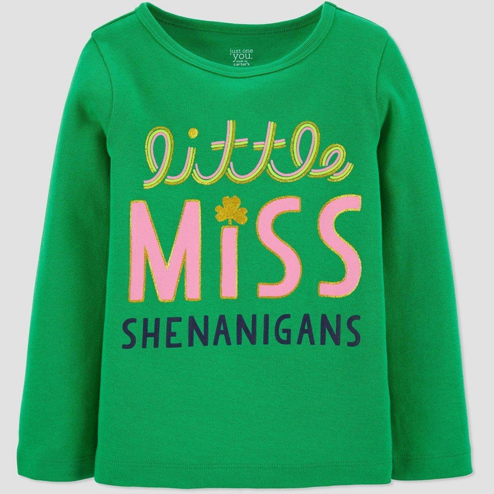 Image of Baby Girls' Shenanigans Girl' T-Shirt - Just One You made by carter's Green 3T, Girl's