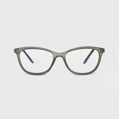 Women's Blue Light Filtering Butterfly Glasses - A New Day™ Gray
