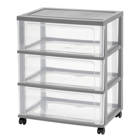 IRIS 3 Drawer Storage Cart with Wheels - image 1 of 4