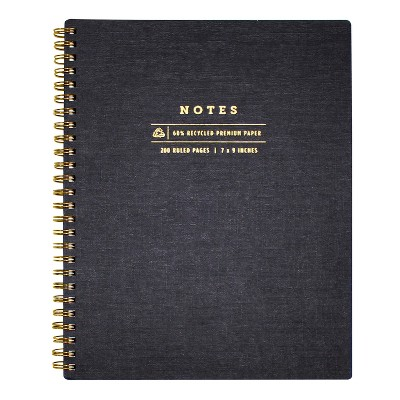 """Spiral Notes Journal Lined 7"""" x 9"""" - greenroom"""