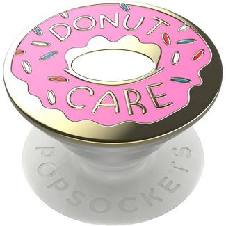 PopSockets Enamel PopGrip Cell Phone Grip & Stand - Donut (Pink)