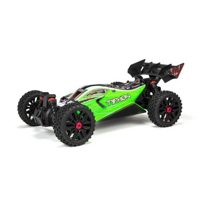 ARRMA 1/10 Typhon 4X4 V3 MEGA 550 Brushed Buggy RC Truck RTR (Transmitter, Receiver, NiMH Battery and Charger Included), Green, ARA4206V3