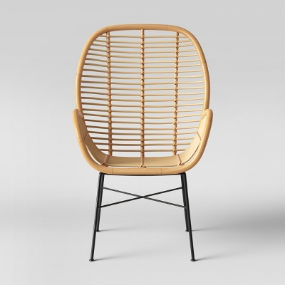 Lily Rattan Arm Chair With Metal Legs   Opalhouse™