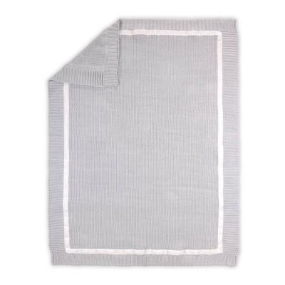 Farmhouse Knit Blanket by The Peanutshell Gray