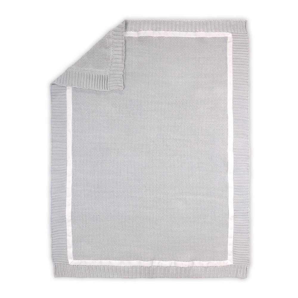 Image of Farmhouse Knit Blanket by The Peanutshell Gray