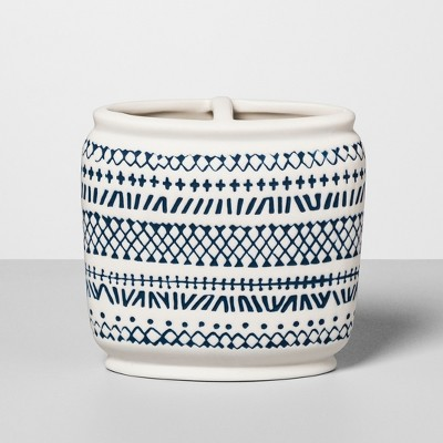Embossed Toothbrush Holder Navy/White - Opalhouse™