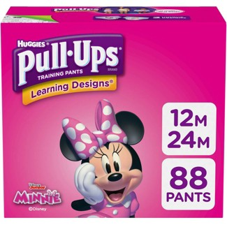 Huggies Pull-Ups Girls' Learning Designs Training Pants Giga Pack - Size 12-24M (88ct)