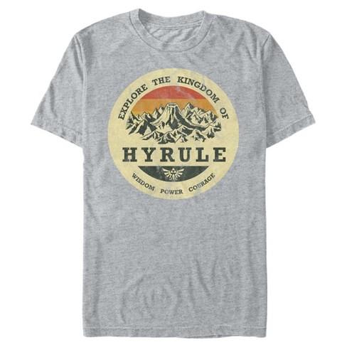 Men S Nintendo Legend Of Zelda Explore Hyrule T Shirt Target
