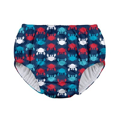 i play Baby Boys' Crab Pull-up Reusable Swim Diaper - Navy M