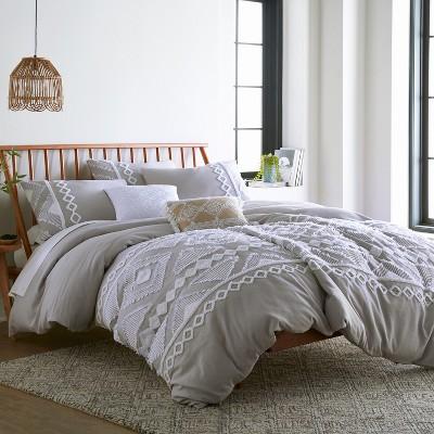Harleson Grey - Comforter Set - Grey, Cream & White - Levtex Home