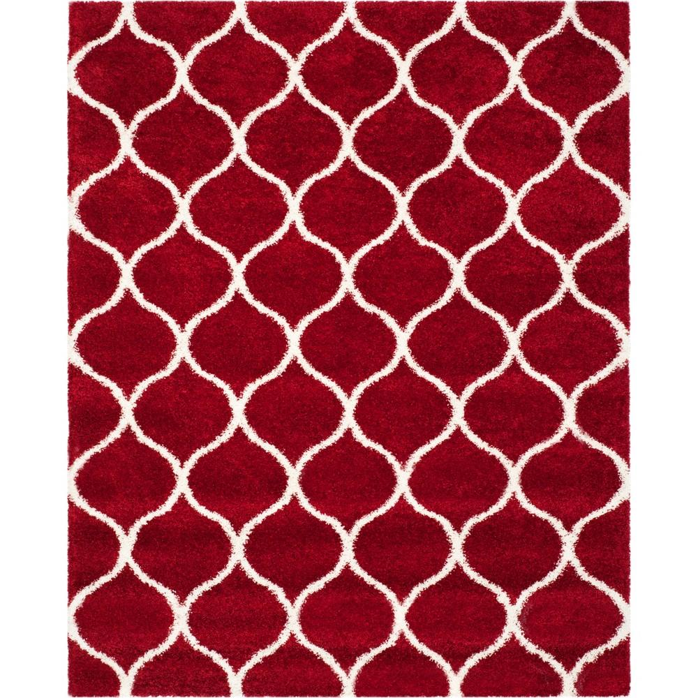 9'X12' Quatrefoil Design Loomed Area Rug Red/Ivory - Safavieh