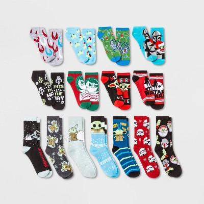 Women's Star Wars The Mandalorian 15 Days of Socks Advent Calendar - Assorted Colors 4-10