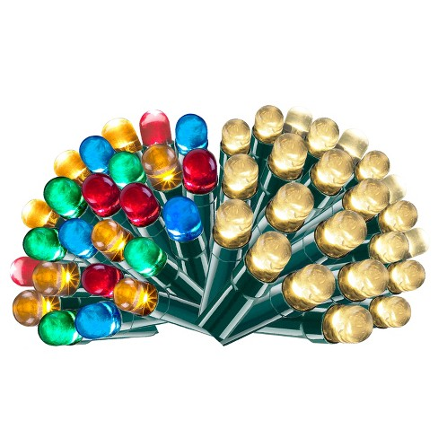 Christmas Led String Lights.Philips 250ct Christmas Led 3 Function Dome String Lights Warm White And Multicolored