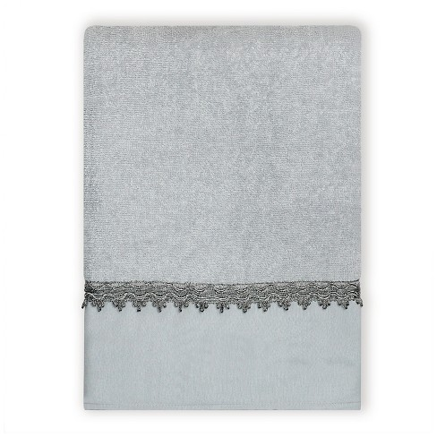 Alexa Silver Traditional Spa Bath Towels Blue/Silver - India Ink® - image 1 of 2