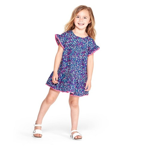 682a5cd4 Toddler Girls' Short Sleeve School Of Whales Crewneck Dress - Blue/Pink - Vineyard  Vines® For Target : Target