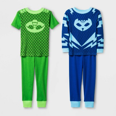 Toddler Boys' 4pc PJ Masks Snug Fit Pajama Set - Blue