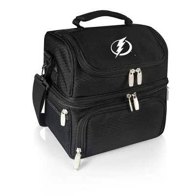 NHL Tampa Bay Lightning Pranzo Dual Compartment Lunch Bag - Black