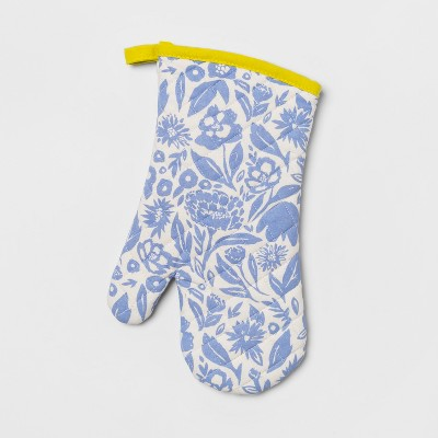 Floral Oven Mitt Blue - Opalhouse™