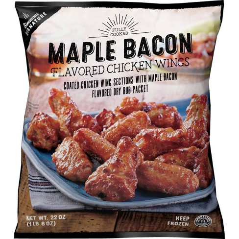 Simmons Signature Maple Bacon Dry Rub Frozen Chicken Wings - 22oz - image 1 of 2